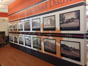 Sharon City Schools Entrance Mural