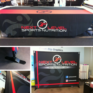Next Level Sports Nutrition - Trade Show Backdrop & Tablethrow