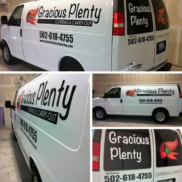 Gracious Plenty Catering - Delivery Van Vehicle Graphics