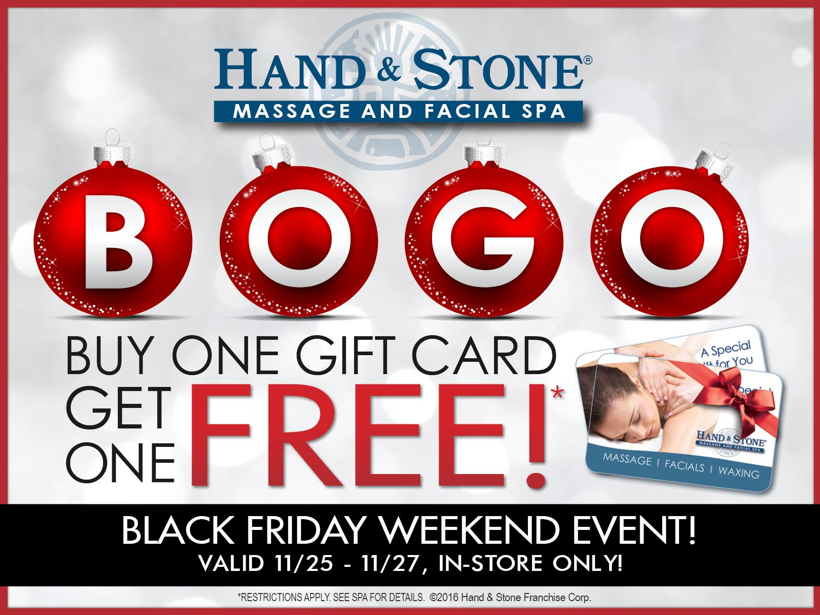 BOGO promo for Black Friday weekend 2016!