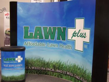 Lawn Plus Trade Show Display with Podium Vandalia Dayton Ohio