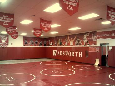 Wadsworth Wall Mural Wrestling Room Dayton Ohio