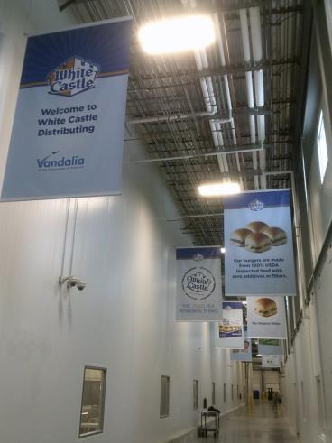 White Castle Distribution Hallway Banner Vandalia Ohio