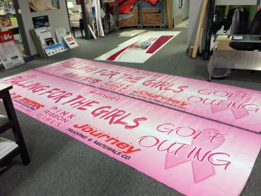 Pink Ribbon Girls Golf Outing Banner Vandalia Ohio