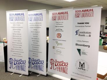 Banner ups, event signage in Princeton, NJ