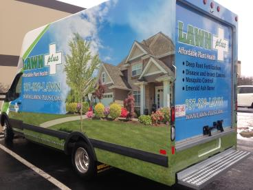 Lawn Plus Box Truck Wrap Dayton Ohio