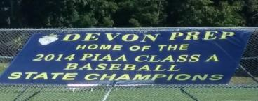 15' x 8' Mesh Banner for Devon Prep