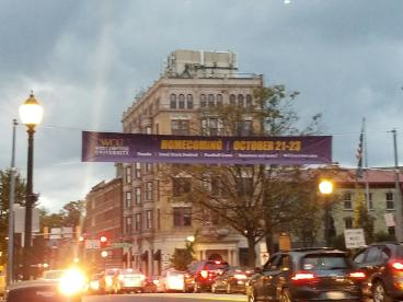 30' Street Banner with Webbing - WCU Homecoming