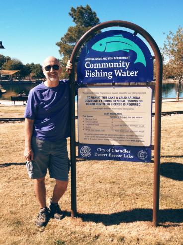 Desert Breeze Lake Information Sign