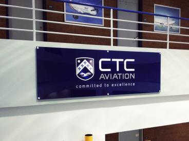 CTC Aviation Wall Sign
