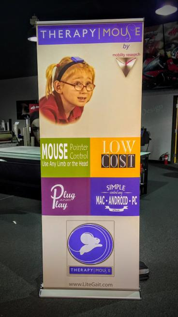 Mobility Research Retractable Banner