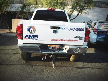 AMS Fire Protection Fleet Wrap
