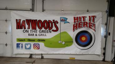 Haywood's Ballpark Banner