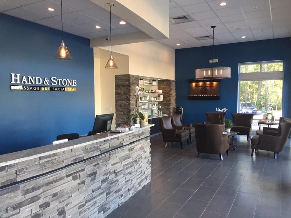 Hand and Stone Spa Summerville, SC Reception Area