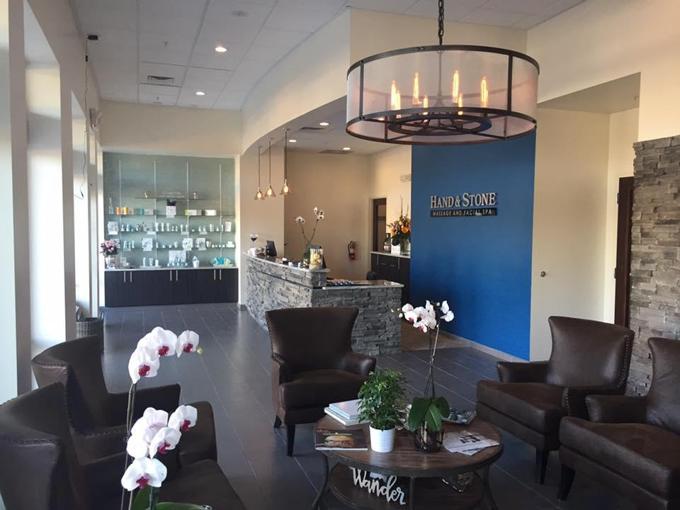 Hand and Stone Spa Summerville, SC  Reception