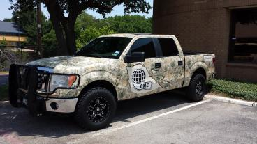 A full camo wrap that stands out from Speedpro Imaging of Dallas on Elmbrook Drive