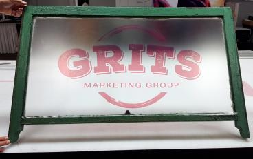 Grits Marketing Group window graphic Alameda