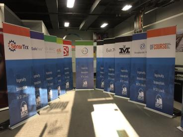 Arch Grant Banner Stands! Congratulations to everyone involved.