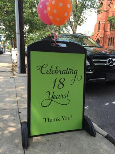 A-frame sign in Pennington, NJ