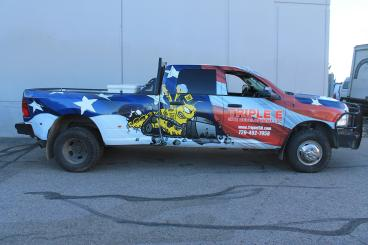 Full Truck Wrap for Triple E Construction Denver CO