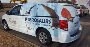 Fort Collins Museum of Discovery, Ptersaurs exhibit vehicle wrap