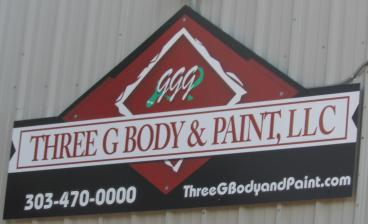outdoor signage three g body and paint Denver, CO