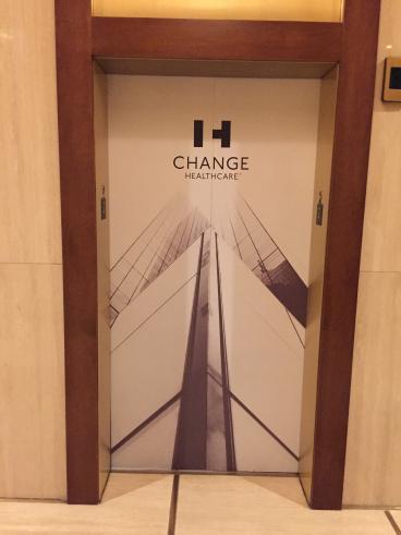 Change Healthcare, Elevator Graphic, Corporate Branding, Dallas, TX, 2016