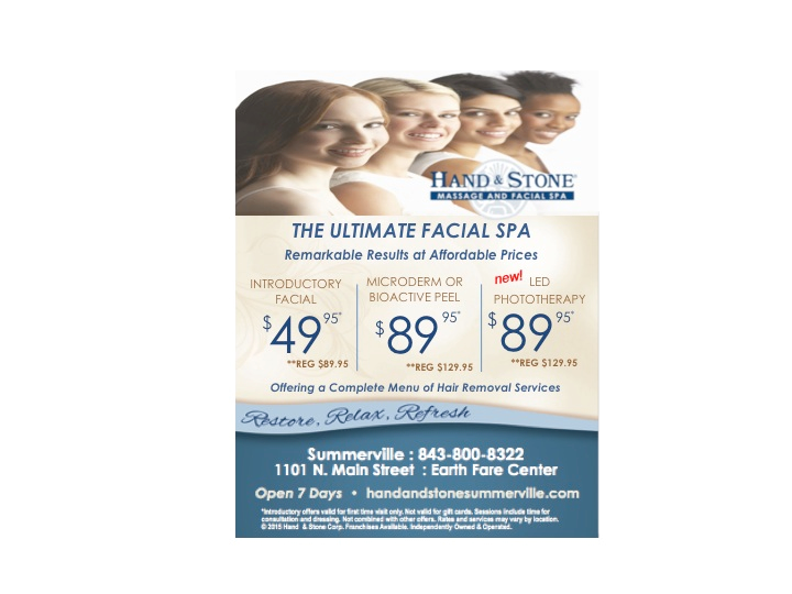 The Ultimate Facial Spa, Hand and Stone Spa  Summerville, SC