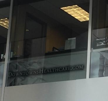 window graphics downtown denver healthcare denver, CO