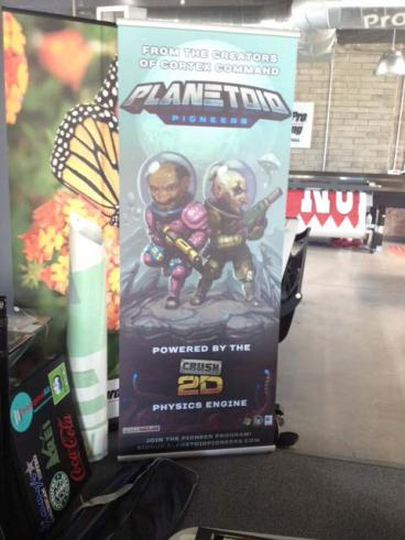 Retractable Lightning Banner Stand