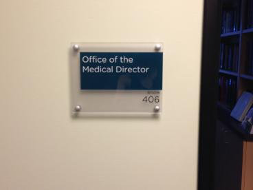 Printed Plaque for Medical Director