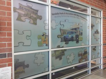 Printed Frosted Vinyl Graphic in Dayton, Ohio