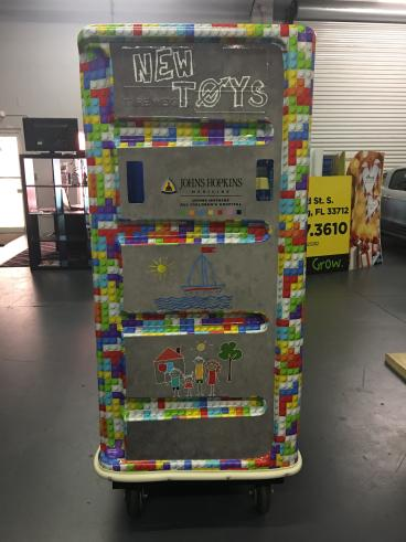 Custom Toy Donation Bin Wrap