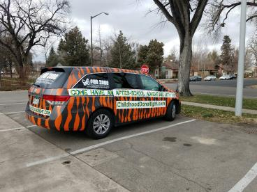 Young People's Learning Center - Tiger Van Wrap