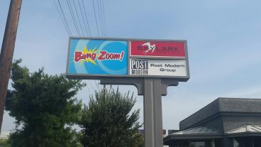 Illuminated  Bang Zoom Sign