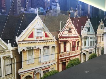 Wall Mural - HP Welcome Center - Painted Ladies - San Francisco Bay Area