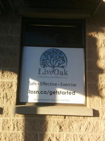 Live Oak window graphic Oakland