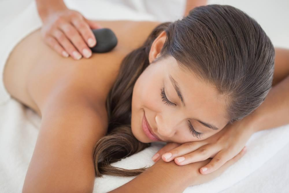 Relax with our signature hot stone massage!