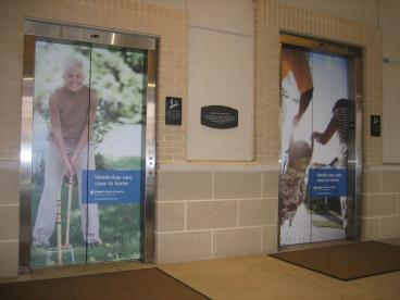 Elevator Wraps in Uptown Charlotte