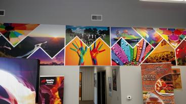 Studio Mural and Displays