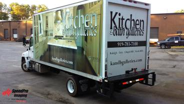 New Full Box Truck Wraps for Kitchen & Bath Galleries