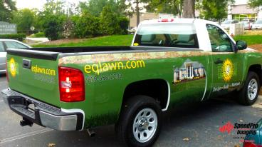 Utility Truck Wraps Installed for Equinox Landscaping