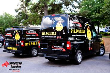 New Graphics for Streamline Plumbing and Electric Nissan Vans