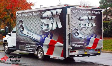 Central Carolina Tools gets New Graphics on Box Truck