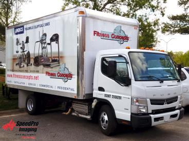 Full Wrap on Fitness Concepts Box Truck