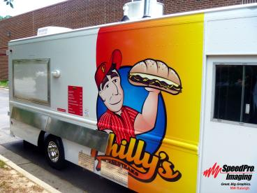 Lunch Truck Graphics for Philly's Cheese Steak