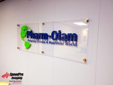 Acrylic sign for Pharm-Olam