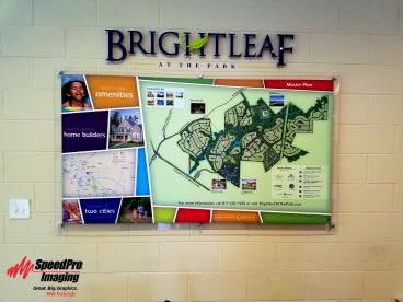 Acrylic Lettering and Print for Brightleaf