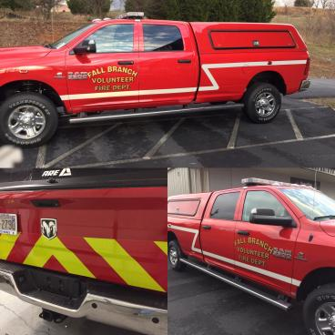 Reflective Decals for Fall Branch Fire Department