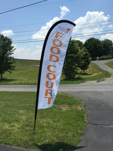Outdoor event flag!